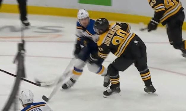 Blues' Barbashev Faces Hearing for Headshot on Bruins Johansson