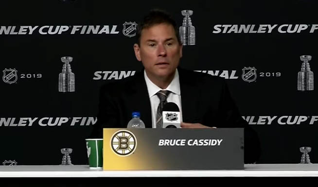 """Bruins' Cassidy Blasts """"Egregious"""" Officiating After Non-Call Leads to Blues Game-Winner"""