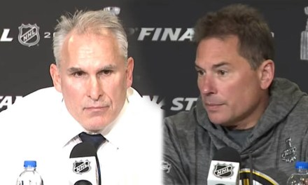 Cup Coaches Comment On Officiating in Stanley Cup Final