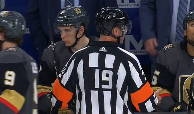 NHL Referee Updates Jersey Number with Tape Job