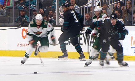 Wild's Hartman Ejected for Slashing Sharks' Kane