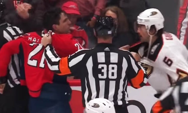 Caps' Hathaway Ejected for Spitting at Opponent
