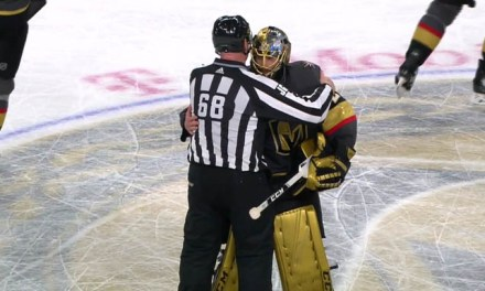 Linesman Scott Driscoll Works Final Vegas Game