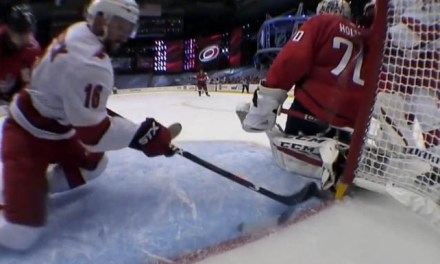Canes' Trocheck Awarded Goal After Caps Displace Net