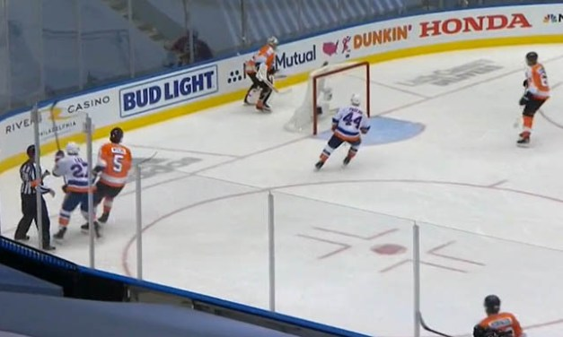 Flyers' Hart Gets Warning After Gloving Puck Behind Net