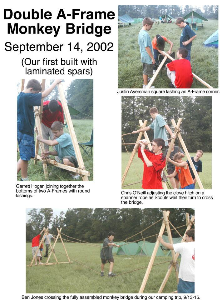 Double A Frame Monkey Bridge Scout Pioneering