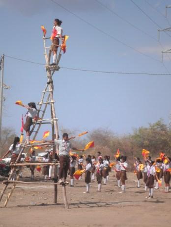 Timor-Leste Scouts practise semaphore