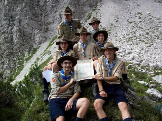 Il giorno della firma della Carta di Clan, presso le cime del gruppo montuoso dei Monfalconi.
