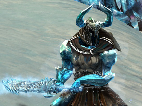 An Icebrood Claymore Guild Wars 2 enemy