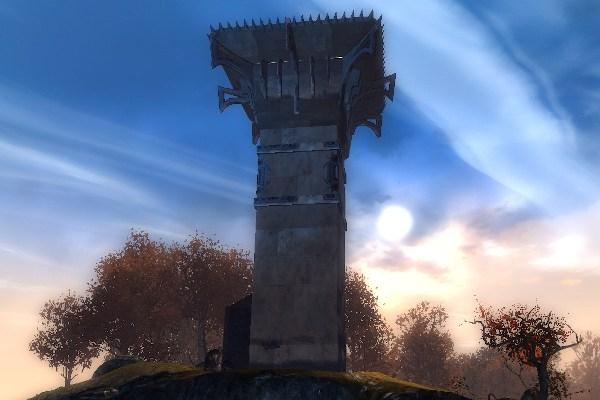 Moorwatch Tower, home of the Blasted Moors Vista in GW2 Diessa Plateau