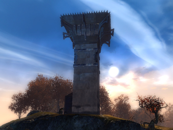 Moorwatch Tower, home of the Blasted Moors Vista in GW2 Diessa Plateau