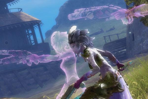 Sylvari mesmer and two purple clones in Guild Wars 2