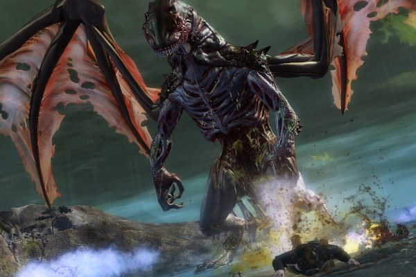 Tequatl the Sunless, a Guild Wars 2 world boss undead dragon