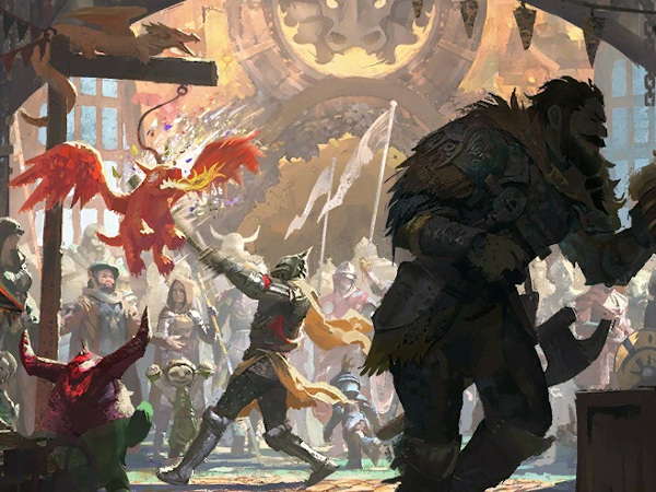 Hoelbrak loading screen for the Guild Wars 2 Dragon Bash festival