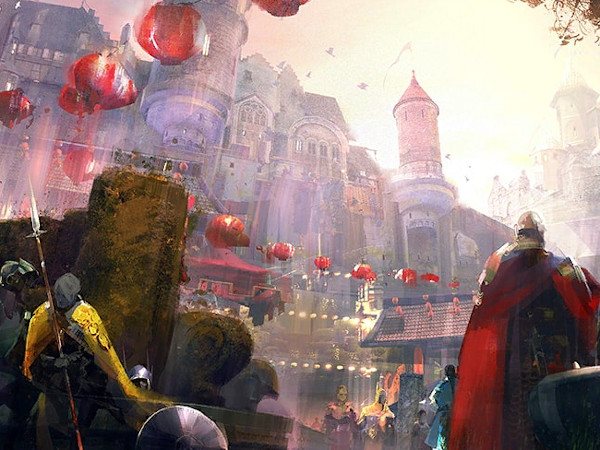 Loading screen for Lunar New Year in Guild Wars 2 Divinity's Reach map