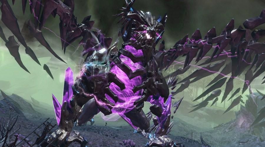 Shatterer a dragon world boss in Guild Wars 2