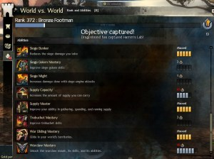Guild Wars 2 WVW Rank and Abilities tab