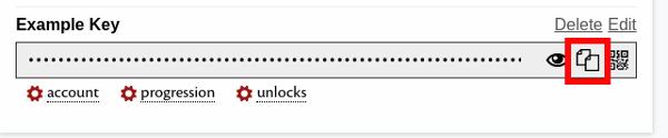 How to copy your GW2 API key