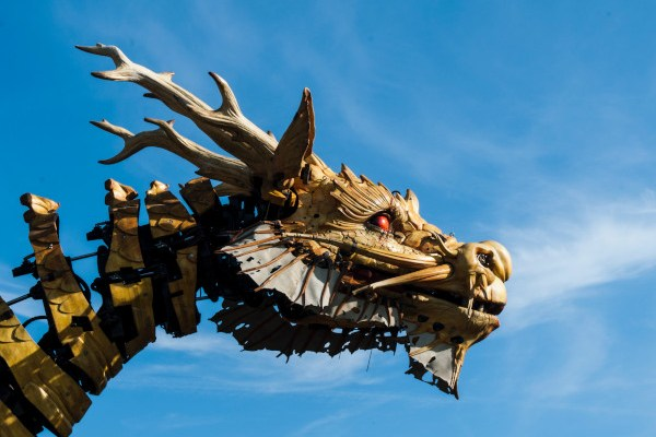 dragon against blue sky