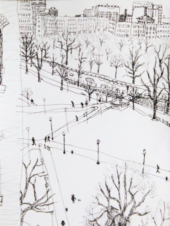 The Boston Common from the ninth floor