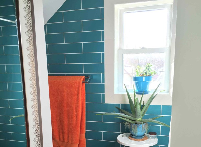 Bright Turquoise Bathroom