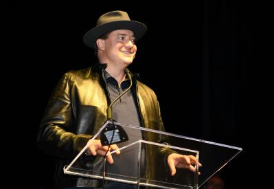 """NEW YORK, NY - OCTOBER 03: """"Doom Patrol's"""" Brendan Fraser makes special appearance during DC UNIVERSE's Titans World Premiere on October 3, 2018 in New York City. (Photo by Dave Kotinsky/Getty Images for DC UNIVERSE)"""