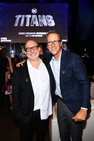 NEW YORK, NY - OCTOBER 03: Titan's Executive Producers Akiva Goldsman (L) and Greg Walker (R) attend DC UNIVERSE's Titans World Premiere on October 3, 2018 in New York City. (Photo by Dave Kotinsky/Getty Images for DC UNIVERSE)