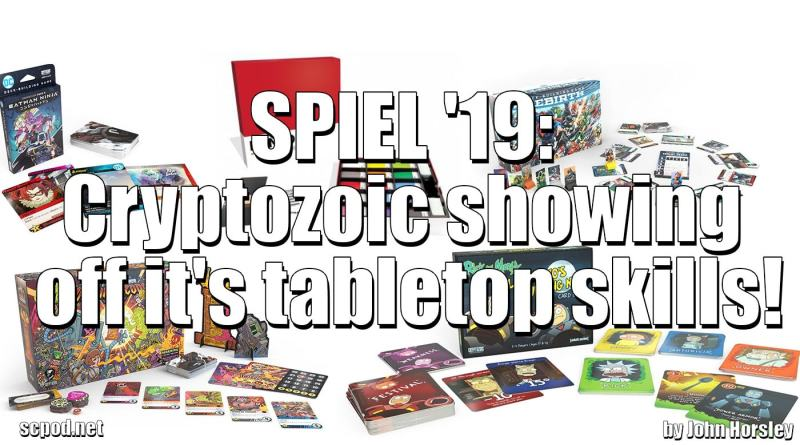 SPIEL '19: Cryptozoic showing off it's tabletop skills!