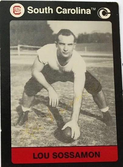 Lou Sossamon player card from the University of South Carolina.