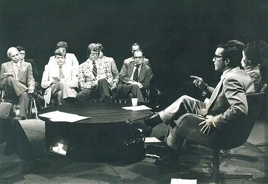 A meeting with Pug Ravenel (right) circa 1976.