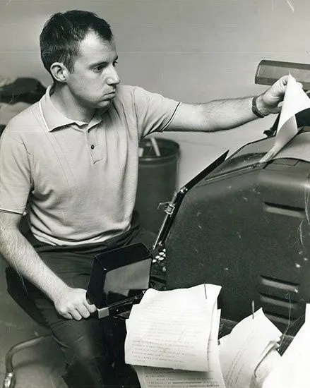 Kent Krell while working with the Associated Press. Circa 1960s.