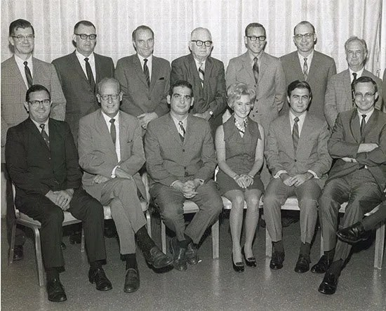 Executive Committee meeting circa 1970.