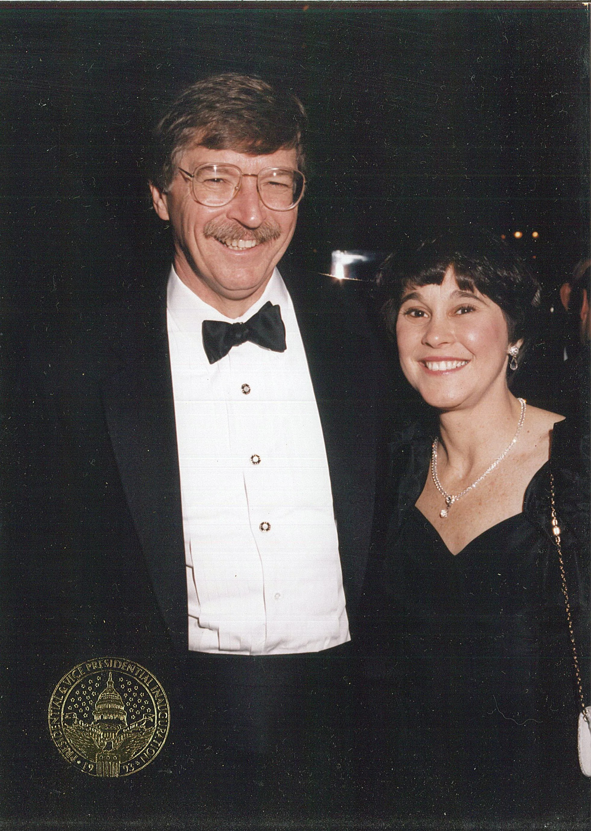 Bender and wife, Anne, at Presidential Inauguration.