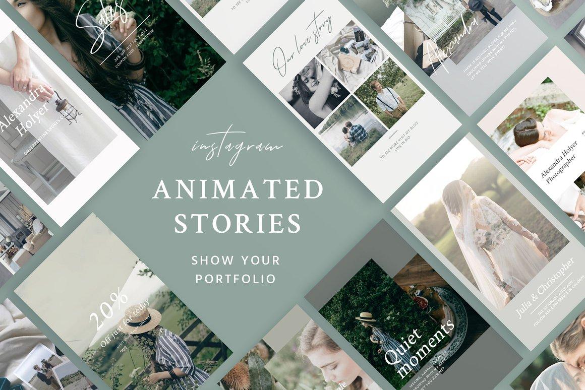 Portfolio Animated Stories Social Media Templates