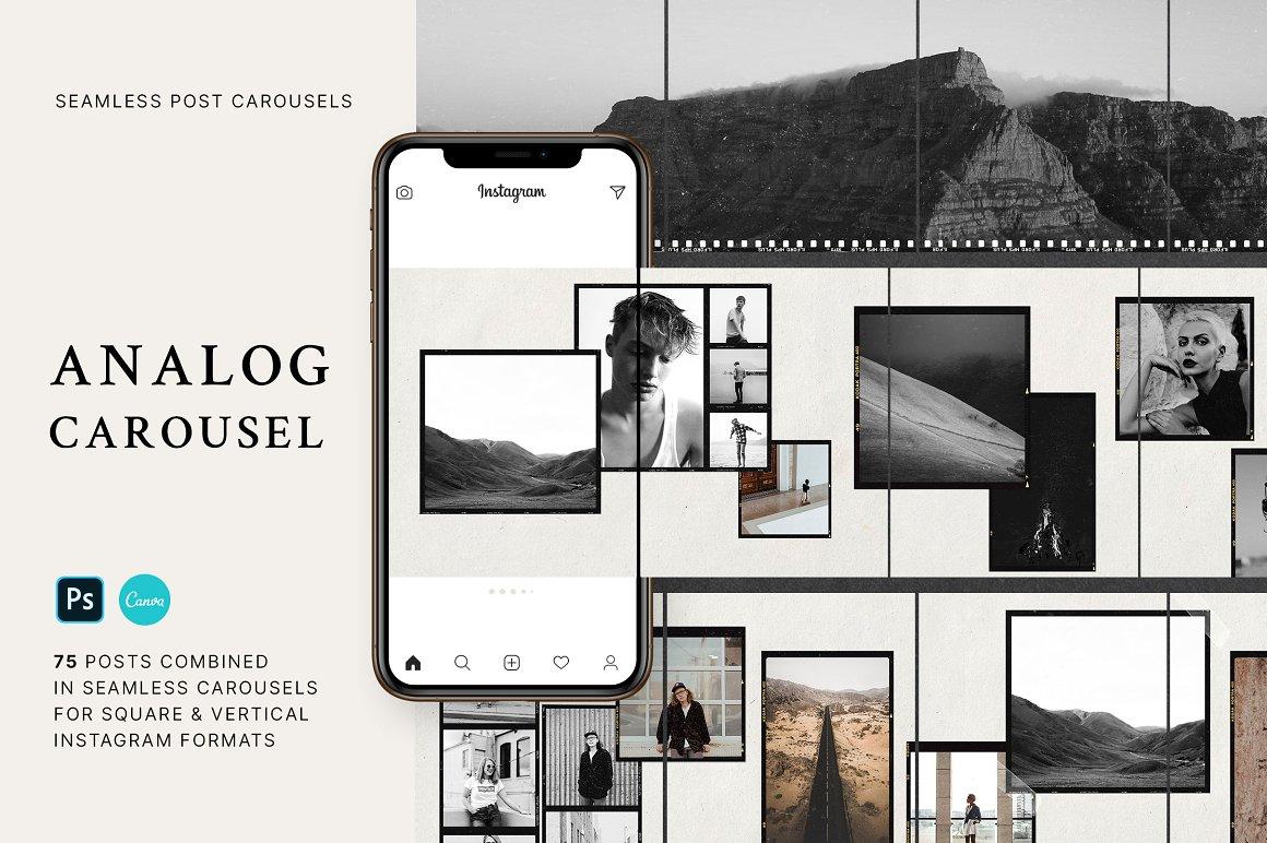 Analog - Carousel Post Templates for Instagram