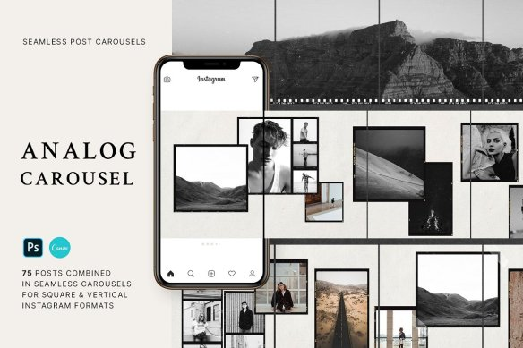 Analog - Carousel Post Templates for Instagram