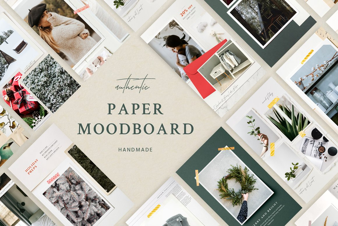 Paper Moodboard - Kit Social Media