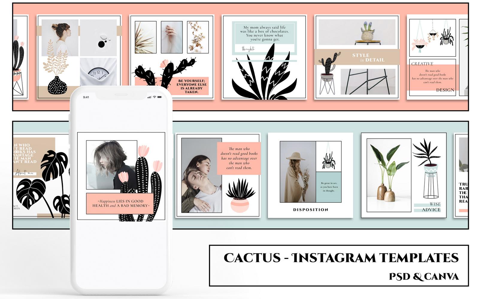 CACTUS - Instagram Templates Social Media