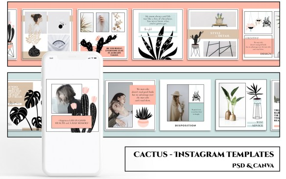 CACTUS - Instagram Templates Social Media