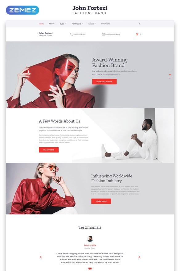 Template 57697 - Nova Fashion Responsive Website Templatewith Parallax