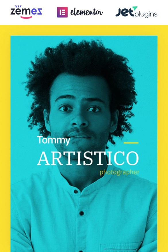 Tommy Artistico - Photographer Gallery Elementor WordPress Theme
