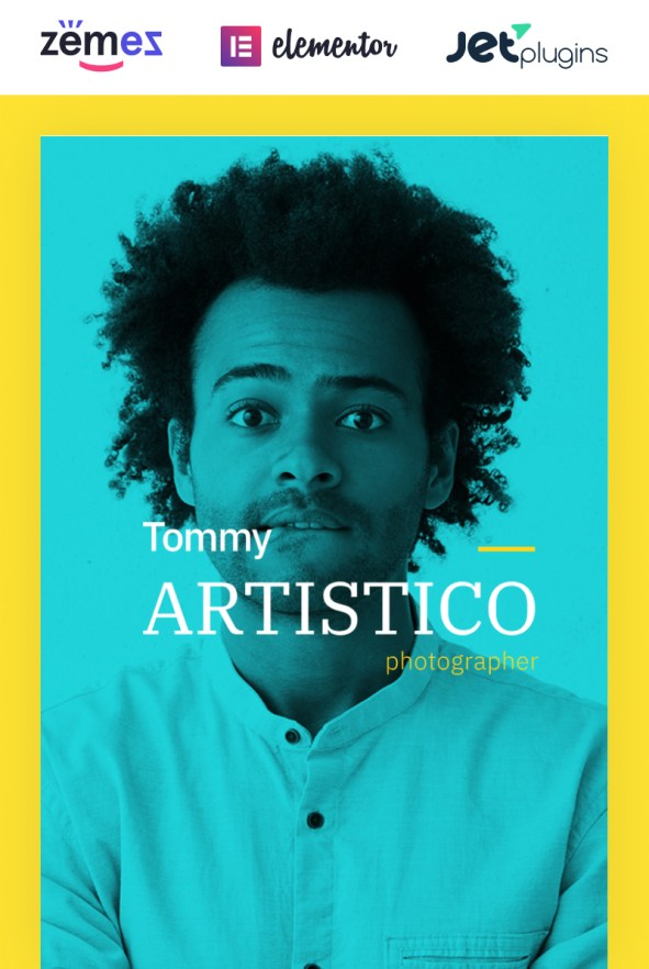 Tommy Artistico - Photographer Gallery Elementor WordPress Theme