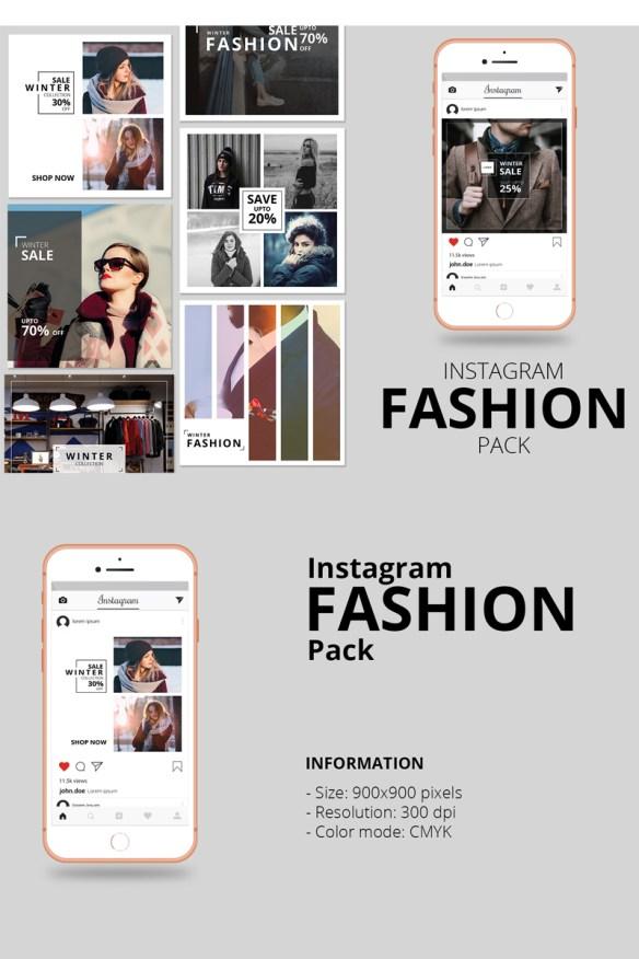 Fashion Instagram Banner Pack Social