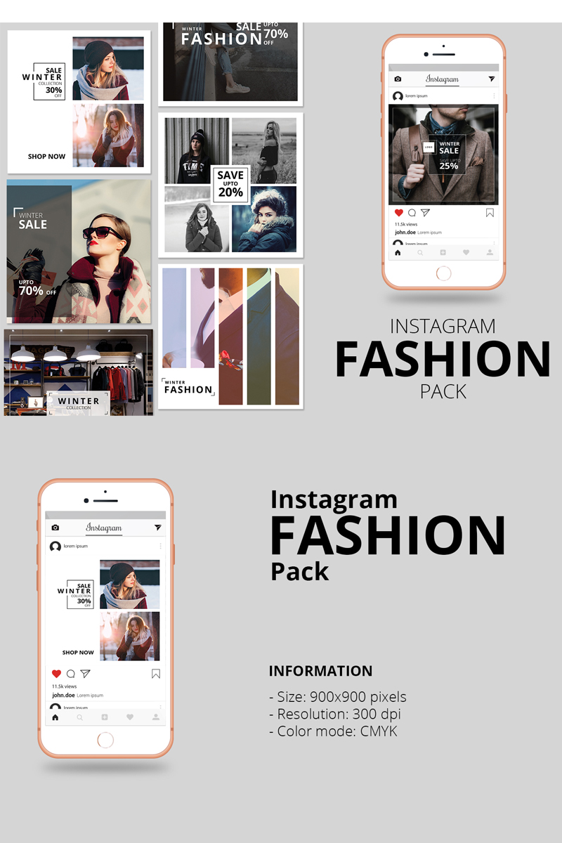 Fashion Instagram Banner Pack Social