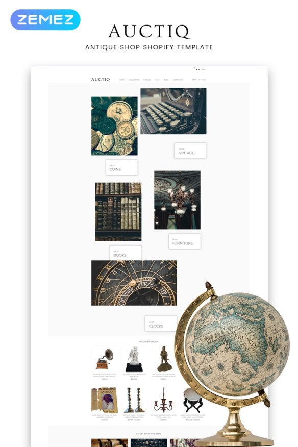 Auctiq - Antique Shop Clean Shopify Theme