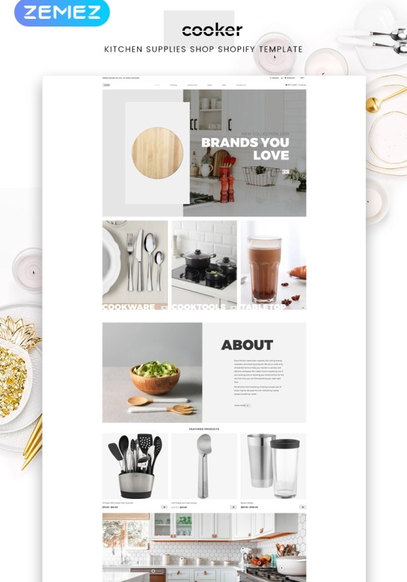 Cooker - Kitchen Supplies Shop Modern Shopify Theme