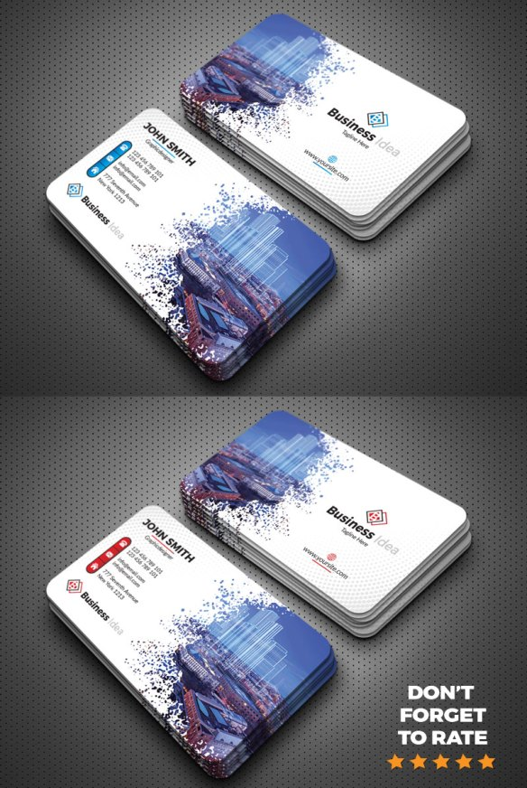 Image Masking Modern Business Card Template Design