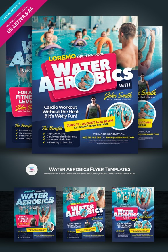 Water Aerobics Flyer Template