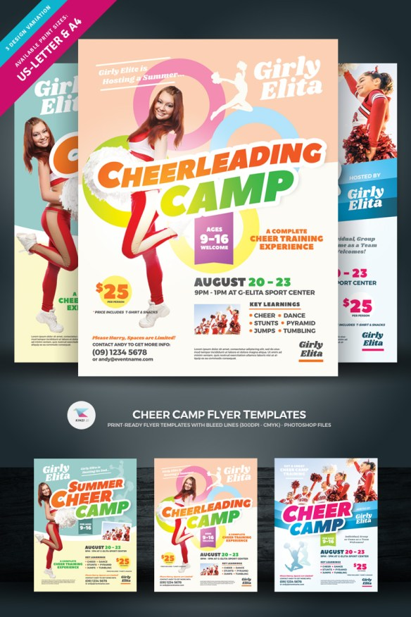 Cheerleading Camp Flyer Template