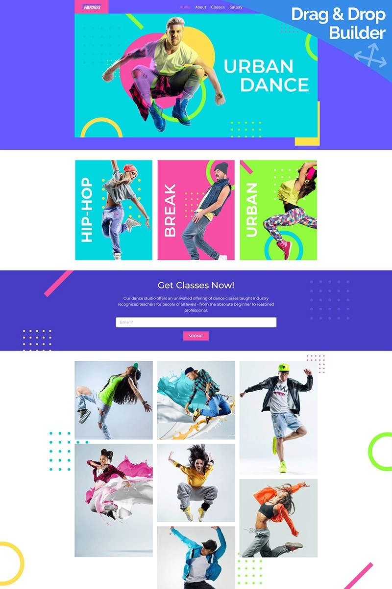 Tempores - Street Dance Moto CMS 3 Template